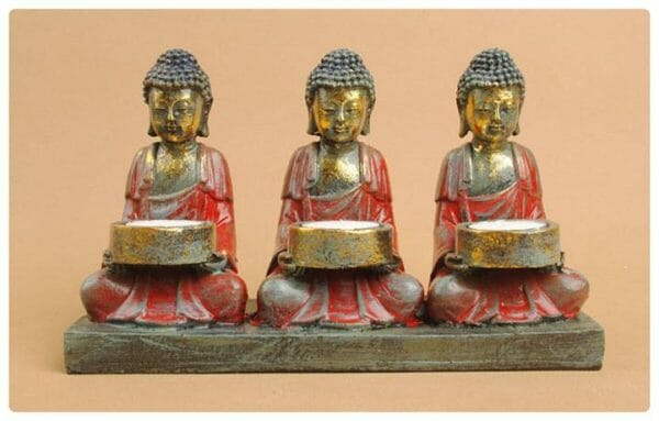BUDDHA CANDLE HOLDER STATUE